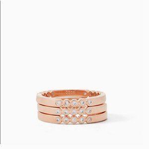 kate spade full circle ring set rose gold 6 nwt